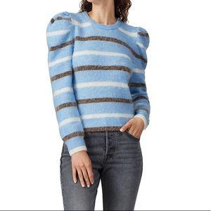 Derek Lam 10 Crosby Puff Sleeve Stripe Sweater
